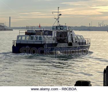 Southampton Fähre Hythe Stockbild