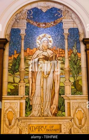 England, London, Southwark, London Bridge City, Kerle, Kerle Krankenhaus Kapelle, Mosaik, Maria von Bethanien Stockbild