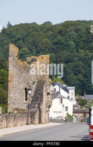 Dente Creuse - Hohler Zahn Teil der Festung auf Montée de Clausen, der Stadt Luxemburg, Luxemburg, Europa I Dente Creuse - hohler Zahn Teil der Fest Stockbild