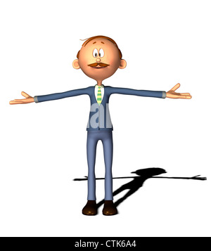Cartoon Figur Mann Stockbild