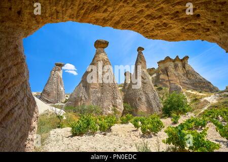 Felsformation Feenkamine in Kappadokien, Türkei Stockbild