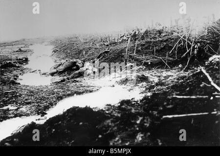 9 1916 3 18 A1 10 E Schlacht von Postawy 1916 Schlachtfeld Weltkrieg östlichen vorderen Niederlage der russischen Stockbild