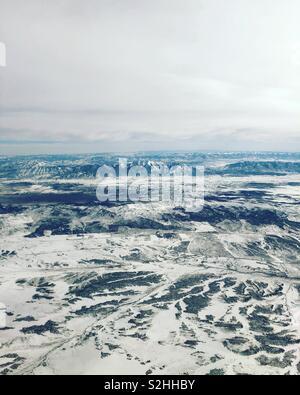 Arial Landschaft über Salt Lake City, Utah Stockbild