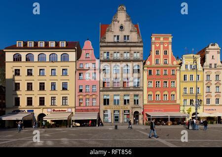 Der Marktplatz, Wroclaw, Polen, Europa Stockbild