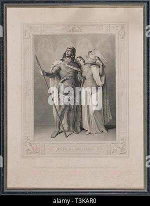 Das Nibelungenlied. Siegfried und Kriemhild, 1860. Private Sammlung. Stockbild