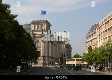 BERLIN BUNDESTAG PARLAMENT REICHSTAG Stockbild