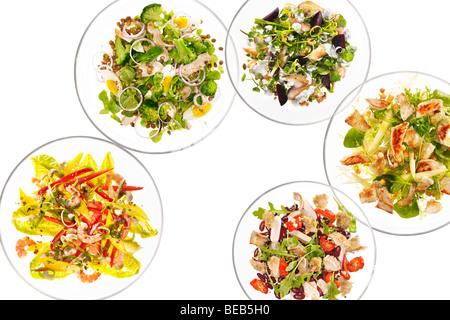 verschiedene Salate Stockbild