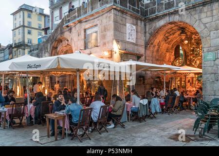 Chez Lapin, Restaurant Stadtteil Ribeira, Porto, Portugal Stockbild