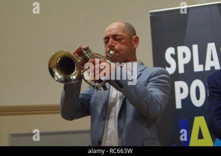 Chris Coull, Eastbourne Jazz Festival, Blatt Halle, Eastbourne, East Sussex, 30. Sep 2018. Stockbild