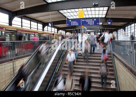 Bahnhof Friedrichstrasse, Berlin, Deutschland Stockbild