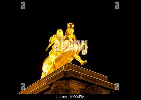 Dresden - Deutschland - Goldener Reiter, Europa Stockbild