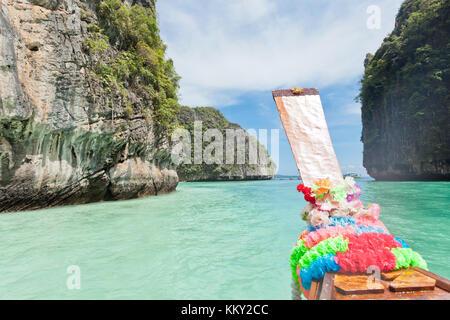 Thailand - Boot nach Ko Phi Phi Le - Krabi - Asien Stockbild