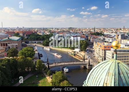 Deutschland, Berlin, Museumsinsel, Berliner Dom (Berliner Dom), Blick von der Kuppel-Galerie Stockbild