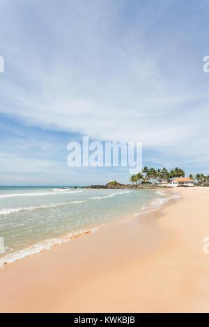 Asien - Sri Lanka - induruwa - Beruhigend am weißen Sandstrand Stockbild