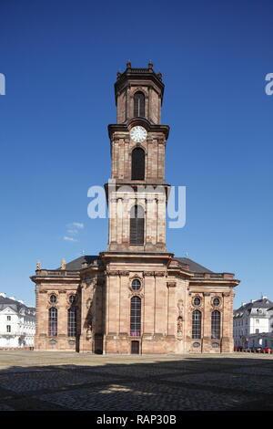 Barockkirche Ludwigskirche, Saarbrücken, Saarland, Deutschland, Europa Stockbild