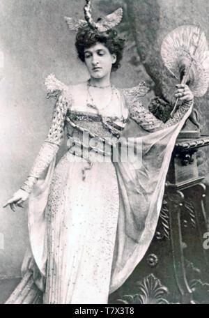 ANNE LISTER (1791-1840) Englisch tagebuchschreibers, Bergsteiger und lesbische für eine Fancy Dress ball gekleidet Stockbild