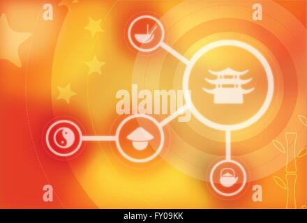 Anschauliches Bild stellvertretend Konzept der chinesische Pagode Stockbild