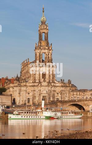 Dresden - Deutschland - Dampfer auf der Elbe, Europa Stockbild