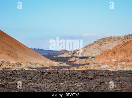 Lavafeld in der Sullivan Bay, Santiago (James) Island, Galapagos, UNESCO-Weltkulturerbe, Ecuador, Südamerika Stockbild