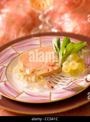 Gänseleber in Sauternes weißes Weingelee Stockbild