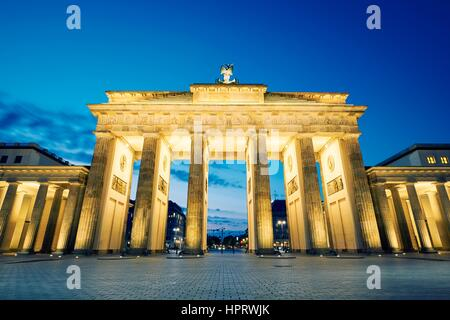Brandenburger Tor - Morgen in Berlin, Deutschland Stockbild