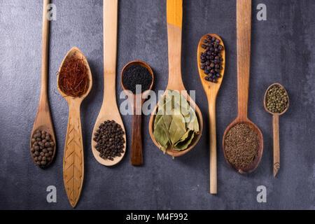 Sammlung spice Stockbild