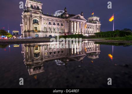 Parlament Reichstagsgebäude in Berlin, Deutschland Stockbild