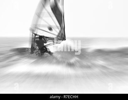 Windsurfen, Jericoacoara, Brasilien Stockbild