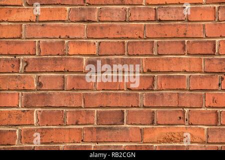 Alte, leere brick House Factory Wand mit roten Ziegelsteinen Stockbild