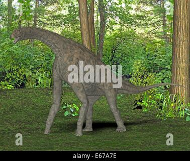 Dinosaurier Atlasaurus / Dinosaurier Atlasaurus Stockbild
