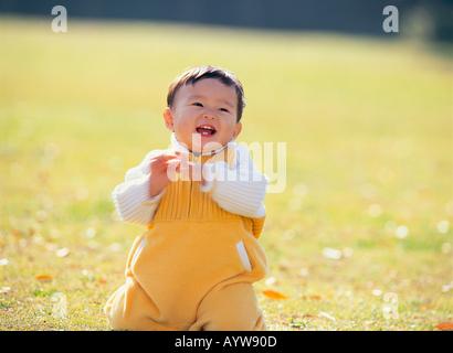 Baby lächelt Stockbild