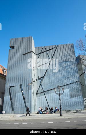 Jüdisches Museum in Berlin Deutschland, entworfen von Daniel Libeskind Stockbild