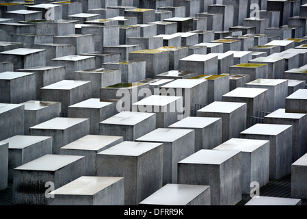 Holocaust-Mahnmal in Berlin, Deutschland. Stockbild