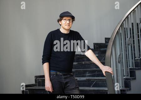Berlin, Deutschland. 15 Apr, 2019. Künstler Guido van der Werve steht in das private Museum der Kunst Sammlung Fluentum. Credit: Lisa Ducret/dpa/Alamy leben Nachrichten Stockbild
