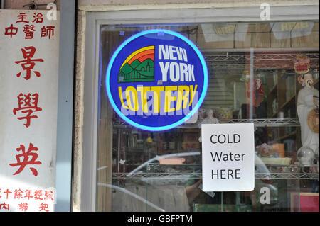 New York-Lotterie Stockbild