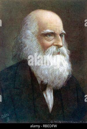 WILLIAM CULLEN BRYANT (1794-1878) amerikanischer Dichter und Journalist Stockbild