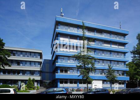 Moderne, in Blau Bürogebäude, Osnabrück, Niedersachsen, Osnabrück, Deutschland, Europa ich Modernes blaues Bürogebäude, Osnabrück, Niedersachsen, Osnabrüc Stockbild