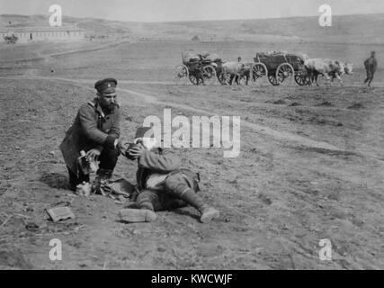 Belagerung von Osmanischen Adrianopel (Edirne) von Bulganian und serbischen Streitkräfte, Nov. 3, 1912 - März Stockbild