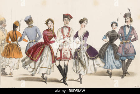 La Mazurka, 1840. Private Sammlung. Stockbild