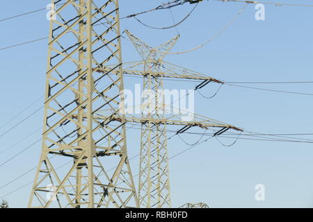 Strommasten, Deutschland, Europa Stockbild