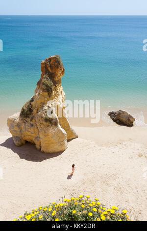 Portugal - Algarve - die Natur genießen im Praia do Vau - Europa Stockbild