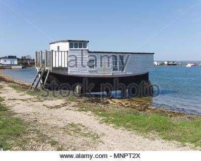 Haus Boot Hayling Island Hampshire England Stockbild