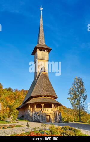 Die hölzerne Kirche, Barsana Kloster Komplex, Banat, Rumänien, UNESCO Stockbild