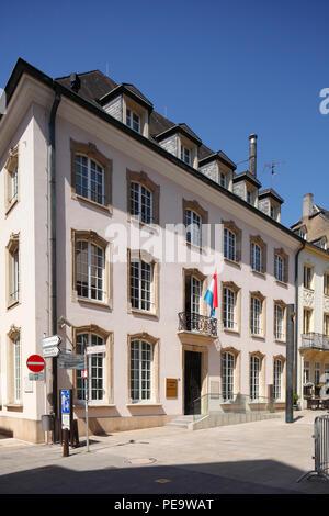 Chambre des Députés, Parlament, Rue du Marche aux Herbes, der Stadt Luxemburg, Luxemburg, Europa ich Chambre des Députés, Parlamentsgebäude, Rue de Stockbild