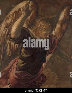 Die Verkündigung: Engel, 1560-1584. In der Sammlung des Rijksmuseum, Amsterdam gefunden. Stockbild