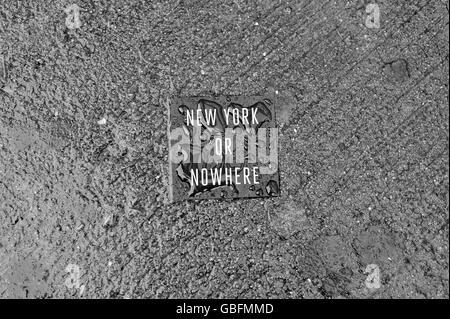New York oder nirgendwo Aufkleber Stockbild