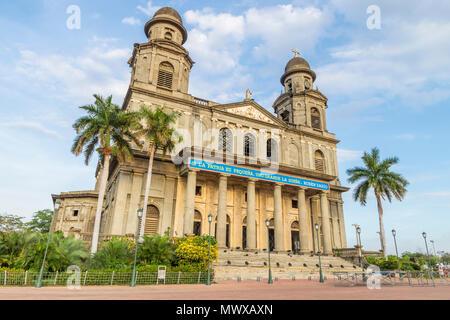 Die Ruinen der alten Kathedrale Santiago de Managua, Nicaragua, Mittelamerika Stockbild