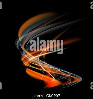 Flamme-Feuer-Vektor-abstrakten Hintergrund brennen Stockbild