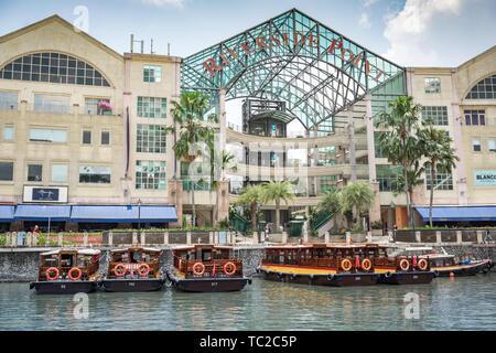 Marina Bay in Singapur Stockbild