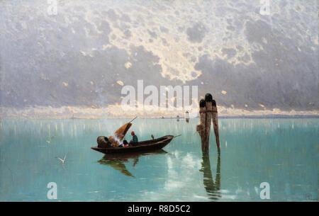 Die Lagune. Private Sammlung. Stockbild